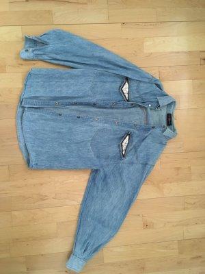 Camicia denim blu pallido