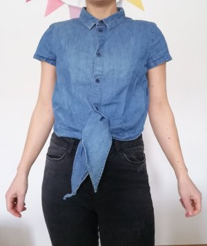 Jeanshemd Monki jeans Bubikragen Kragenshirt XS