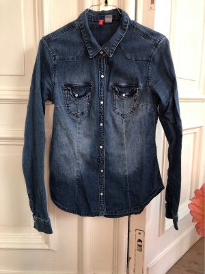H&M Divided Denim Shirt steel blue