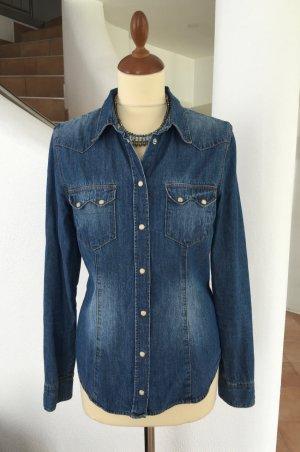 Jeanshemd von H&M Denim Gr. 42 oder L