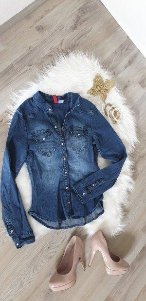 H&M Camicia denim blu