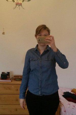 Pepe Jeans Camisa vaquera azul acero-blanco Algodón