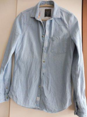 Review Camisa vaquera azul celeste Algodón