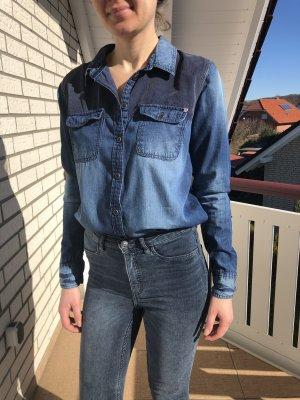 Tom Tailor Chemise en jean bleu acier-bleu foncé