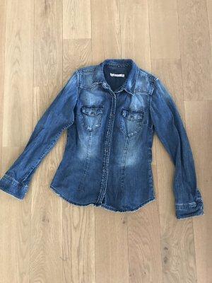 Zara Spijkershirt blauw