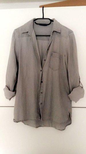 Zara Denim Shirt light grey-slate-gray