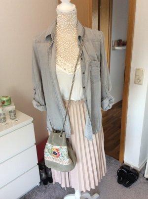 Zara Denim Shirt slate-gray