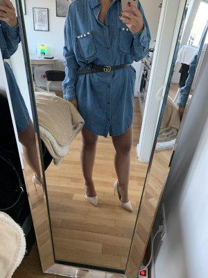 Zara Spijkershirt korenblauw