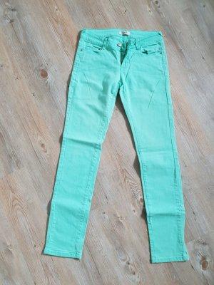 Pimkie Pantalon strech turquoise coton