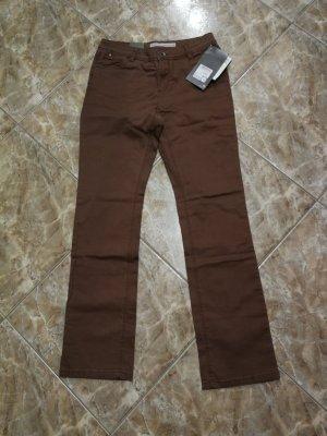 Yessica Pantalone cinque tasche marrone Cotone