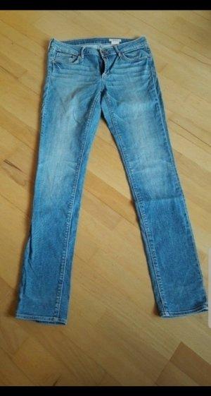 H&M Jeans cigarette bleu