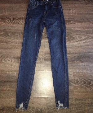 100% Fashion Skinny jeans donkerblauw