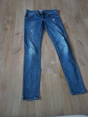 Pantalon cigarette bleu