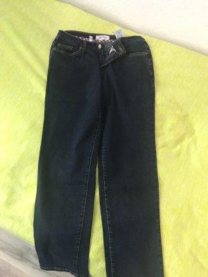 Wortel jeans donkerblauw