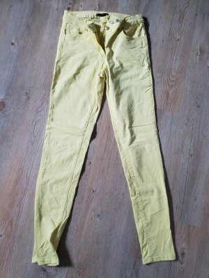 H&M Pantalon strech jaune primevère coton