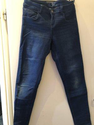 Esmara Pantalón elástico azul-azul oscuro