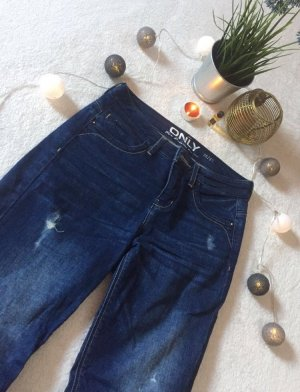 Only Tube jeans donkerblauw