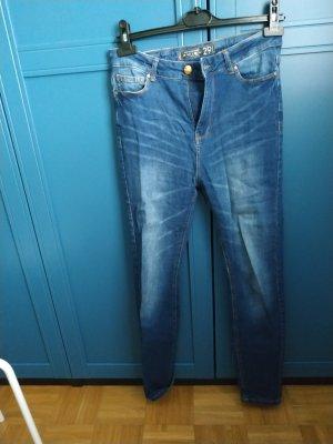 Amisu High Waist Jeans dark blue