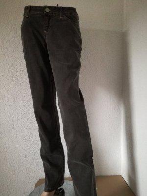 Jeanshose Basic Jeans Grau Hose Gerade geschnitten