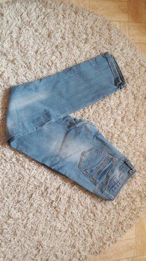 Monday Premium Pantalone a vita bassa oro-azzurro
