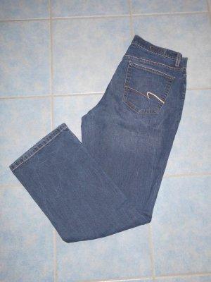 Pioneer Pantalón de campana azul oscuro tejido mezclado