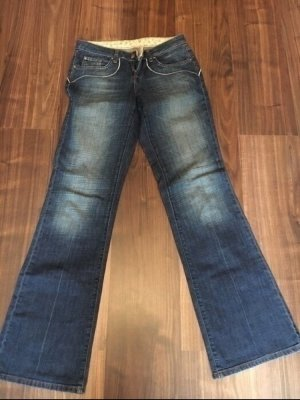 Boot Cut Jeans steel blue-pink