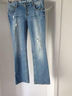 Buena Vista Marlene jeans azuur