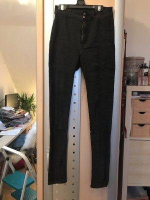 H&M Jeans a vita alta nero