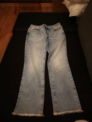Mango Straight Leg Jeans pale blue