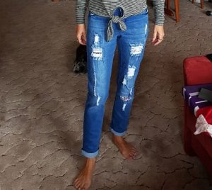 Rainbow Pantalon boyfriend bleu