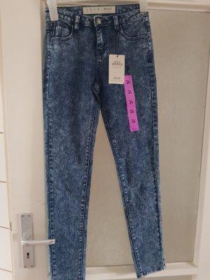 Primark Drainpipe Trousers steel blue