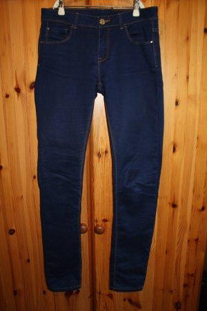 Pantalón de tubo azul oscuro Algodón