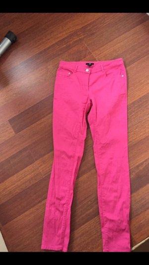 H&M Drainpipe Trousers raspberry-red