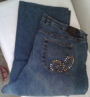 Wortel jeans neon blauw