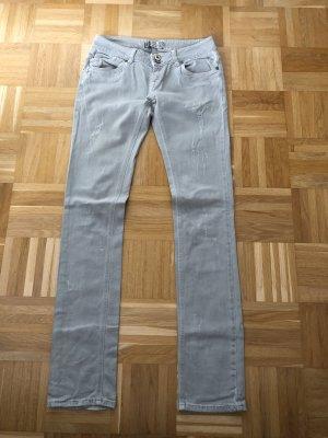 Zara Jeans taille basse gris clair-gris