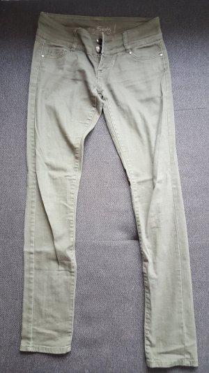 Jeanshose in khaki!!