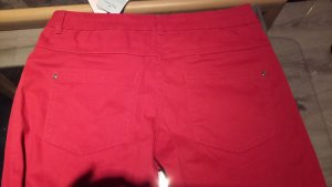 Pantalón elástico rojo ladrillo Algodón