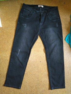 Jeanshose in schwarz slim