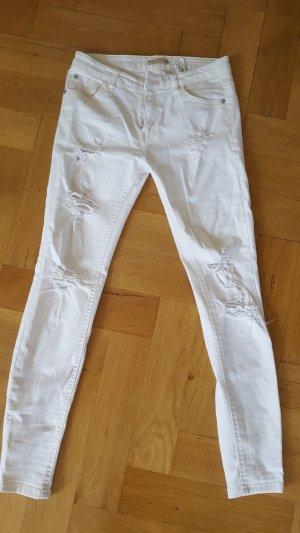 Jeanshose in weiß von PullandBear