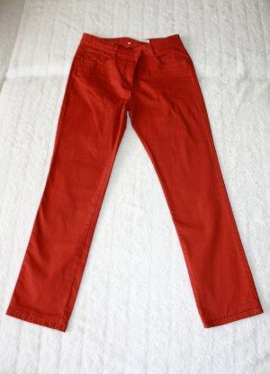 Jeanshose in ziegelrot von Michèle Boyard