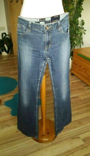 Jeanshose jused optik blau
