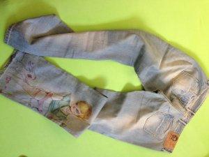 Jeanshose mit Print / Zeichnung