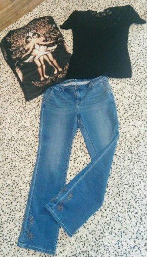 #Jeanshose neuwertig strech und Shirt,s