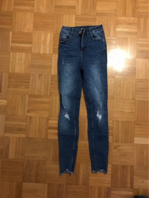 FB Sister Hoge taille jeans blauw