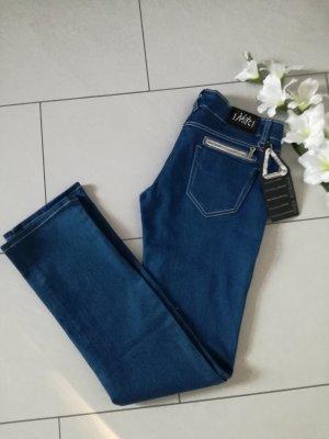 Jeanshose Stretchjeans Reißverschlüsse Stretch Jeans