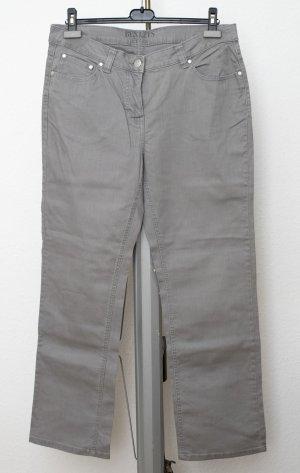 Adler Jeans a gamba dritta grigio chiaro-grigio Cotone