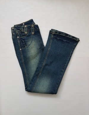 Rainbow Stretch Jeans dark blue-light blue mixture fibre
