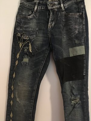 Drainpipe Trousers dark blue