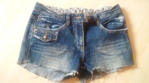 Denim Shorts steel blue-cornflower blue