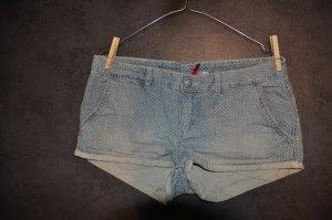 Jeanshotpants, H&M, Gr. 38, helle kleine Punkte, hellblau